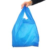 Blue Plastic Vest Carrier Bags Large 11x17x21